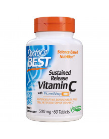 Sustained Release Vitamine C 500mg - 60 Tablets - Doctors Best afbeelding