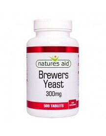Brewers Yeast 300mg - Natures Aid - 500 Tabletten afbeelding