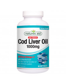Cod Liver Oil (high Strength) 1000mg - Natures Aid - 180 Capsules afbeelding