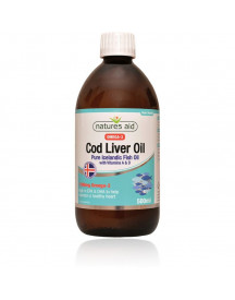 Cod Liver Oil Liquid 500 Ml Natures Aid afbeelding