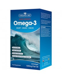 Super Strength Omega-3 - Natures Aid - 60 Capsules afbeelding