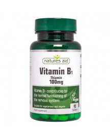 Vitamin B1 (thiamine) 100mg - Natures Aid - 90 Tabletten afbeelding