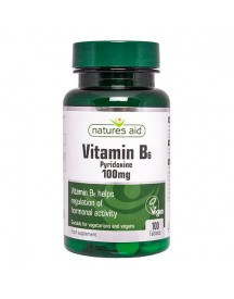 Vitamin B6 (high Potency) 100mg - Natures Aid - 100 Tabletten afbeelding