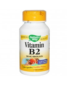 Vitamin B2 100mg - 100 Caps - Nature's Way afbeelding