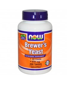 Brewers Yeast - 200 Tabletten - Now afbeelding