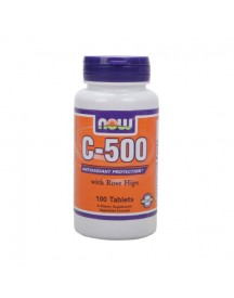 C-500 Plus 40mg Of Rose Hips - Now - 100 Tabletten afbeelding