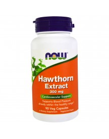 Now Foods, Hawthorn Extract, 300 Mg, 90 Veg Capsules afbeelding