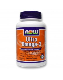 Ultra Omega-3 - Now - 90 Softgels afbeelding