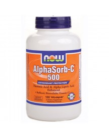 Alphasorb-c, 500mg - Now - 180 Capsules afbeelding
