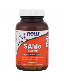 Same, 400mg | Now Foods 60 Tabletten afbeelding