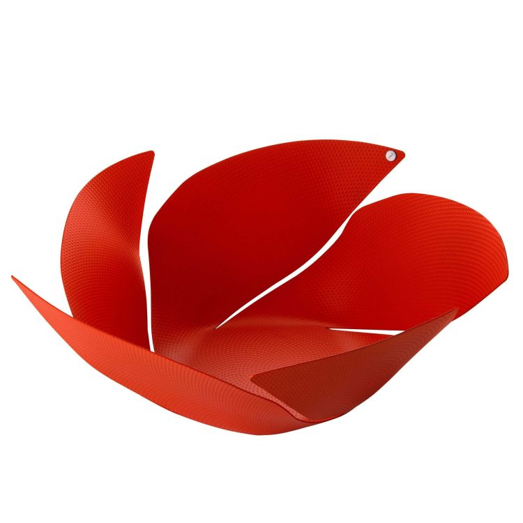 Image Alessi Twist Again Fruitschaal Rood
