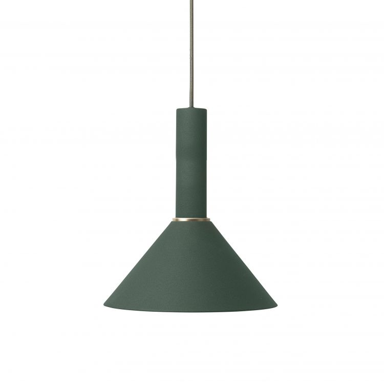 Image Ferm Living Cone Dark Green Hanglamp