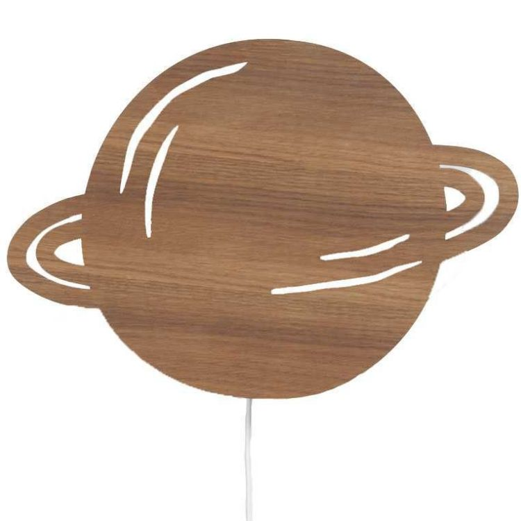 Image Ferm Living Planet Wandlamp Smoked Oak
