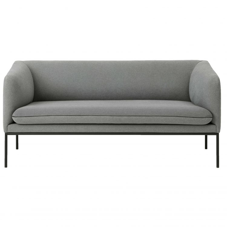 Image Ferm Living Turn Sofa Bank Cotton 2-zits Lichtgrijs
