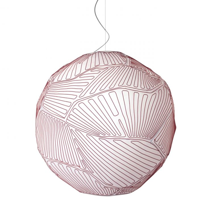 Image Foscarini Planet Hanglamp Halo Small Wit/rood
