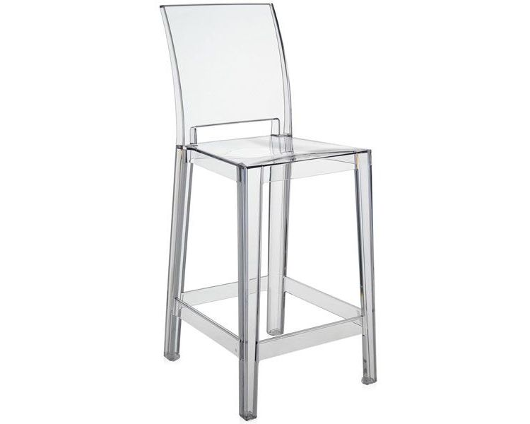 Image Kartell One More One More Please Vierkant Low Transparant Barkruk