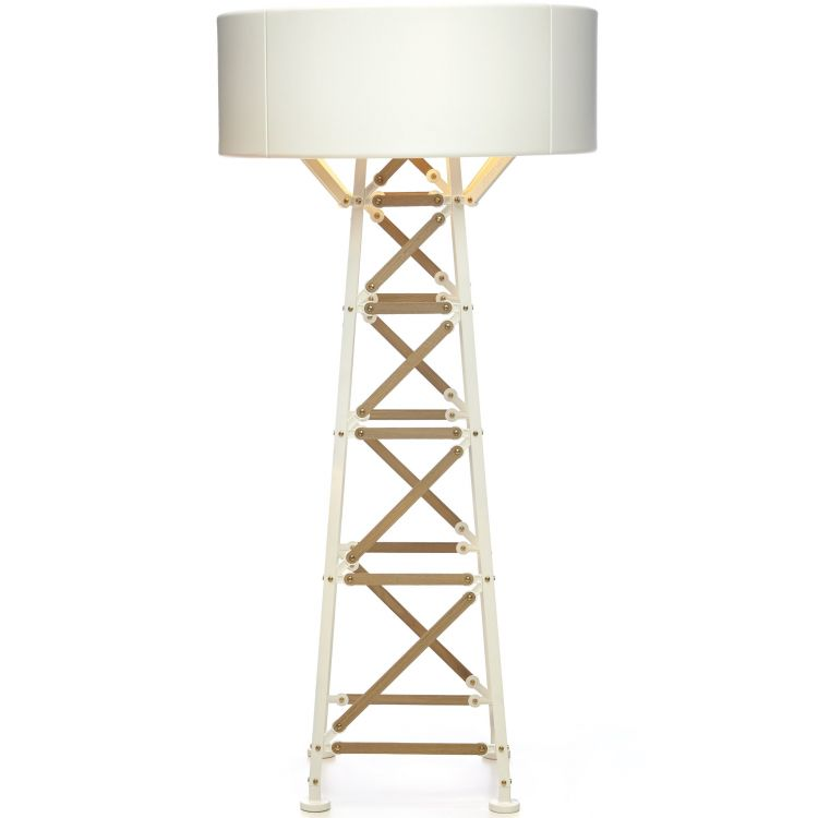 Image Moooi Construction Lamp M Vloerlamp Wit/hout