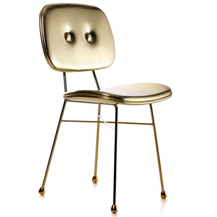 Image Moooi Golden Chair Stoel Glanzend Goud
