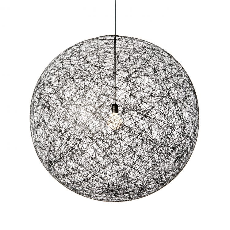 Image Moooi Random Light Hanglamp Zwart Medium