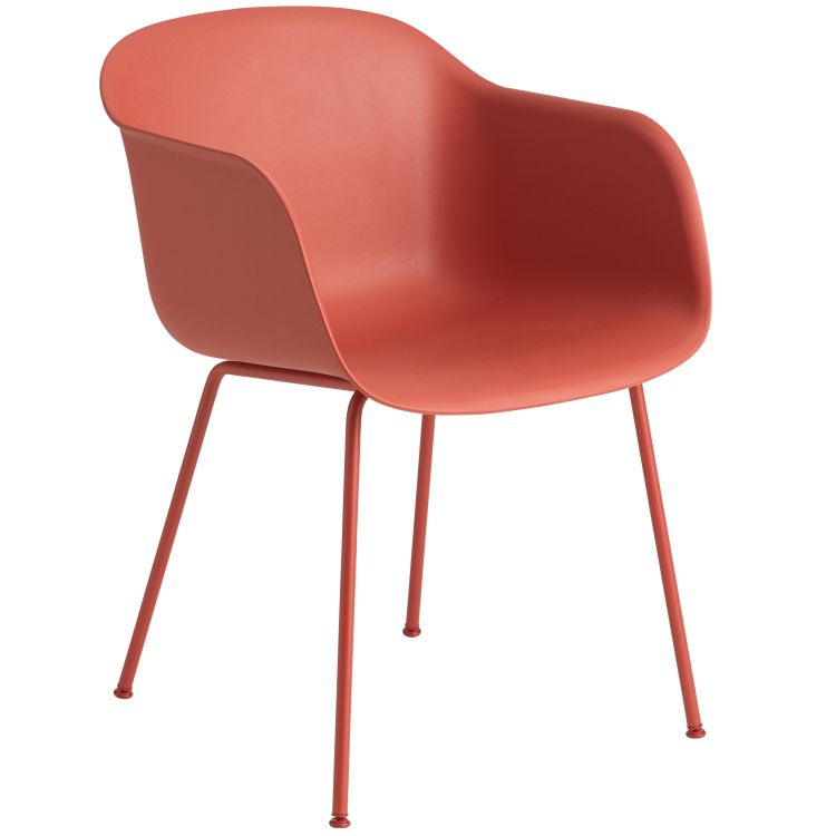Image Muuto Fiber Tube Stoel Dusty Red