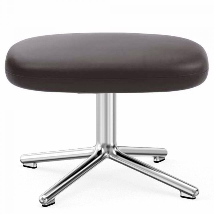 Image Normann Copenhagen Era Footstool Swivel Voetenbank Met Aluminium Onderstel Ultra Leather 41589