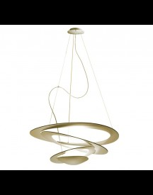 Artemide Pirce Mini Sospensione Hanglamp Led Goud 3000k afbeelding