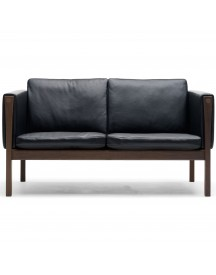 Carl Hansen & Son Ch162 Bank Geolied Walnoot Thor 301 Leer afbeelding