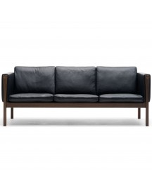 Carl Hansen & Son Ch163 Bank Geolied Walnoot Thor 301 Leer afbeelding