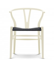 Carl Hansen & Son Ch24 Wishbone Stoel Colours Black Ivory White afbeelding