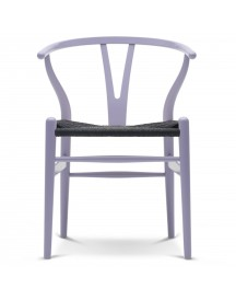 Carl Hansen & Son Ch24 Wishbone Stoel Colours Black Light Purple afbeelding