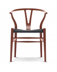 Carl Hansen & Son Ch24 Wishbone Stoel Colours Black Red Brown afbeelding