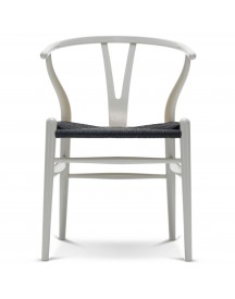 Carl Hansen & Son Ch24 Wishbone Stoel Colours Black Silver Grey afbeelding
