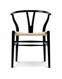 Carl Hansen & Son Ch24 Wishbone Stoel Colours Natural Black afbeelding