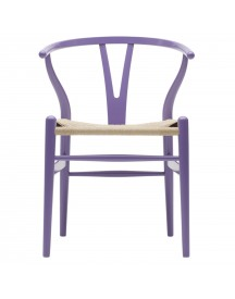 Carl Hansen & Son Ch24 Wishbone Stoel Colours Natural Lavender Purple afbeelding