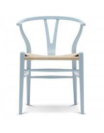 Carl Hansen & Son Ch24 Wishbone Stoel Colours Natural Light Blue afbeelding
