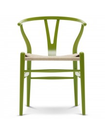 Carl Hansen & Son Ch24 Wishbone Stoel Colours Natural Spring Green afbeelding