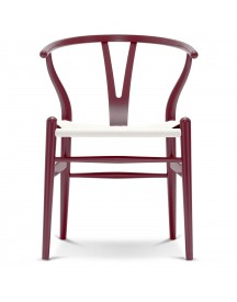 Carl Hansen & Son Ch24 Wishbone Stoel Colours White Berry Red afbeelding