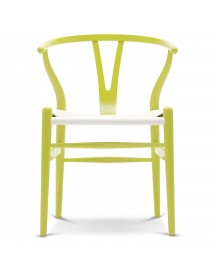 Carl Hansen & Son Ch24 Wishbone Stoel Colours White Lime Green afbeelding