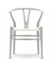 Carl Hansen & Son Ch24 Wishbone Stoel Colours White Silver Grey afbeelding