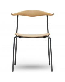 Carl Hansen & Son Ch88t Powdercoated Stoel Anthracite Grey Rugleuning Geolied Beuken afbeelding
