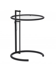 Classicon Adjustable Table E 1027 Black Bijzettafel 52 Helder Glas afbeelding