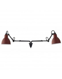 Dcw éditions Lampe Gras N203 Double Wandlamp Rood afbeelding