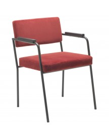 Fest Amsterdam Monday Armchair Stoel Seven Rood afbeelding