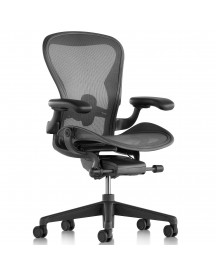 Herman Miller Aeron Chair (new) Fully Adjustable Carbon Black Posture Fit afbeelding