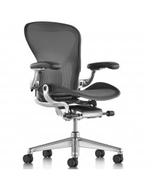 Herman Miller Aeron Chair (new) - Polished Aluminium Base & Linkage afbeelding