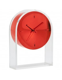 Kartell Air Du Temps Klok Crystal/red afbeelding