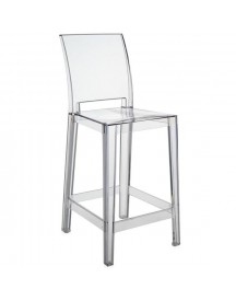 Kartell One More One More Please Vierkant Low Transparant Barkruk afbeelding