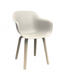 Magis Substance Wood Armchair Naturel Onderstel Wit afbeelding