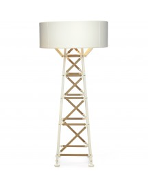 Moooi Construction Lamp M Vloerlamp Wit/hout afbeelding