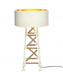 Moooi Construction Lamp S Vloerlamp Wit/hout afbeelding